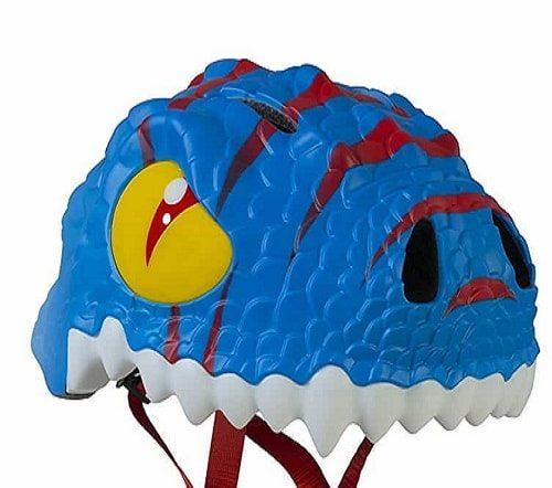 Detalle casco infantil dragon azul