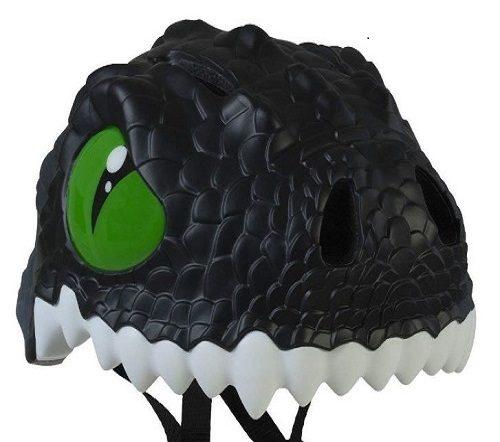 Detalle casco infantil dragon negro