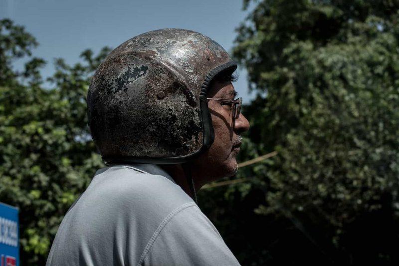 casco dañado